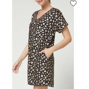 Entro Metallic Cheetah Print Dress